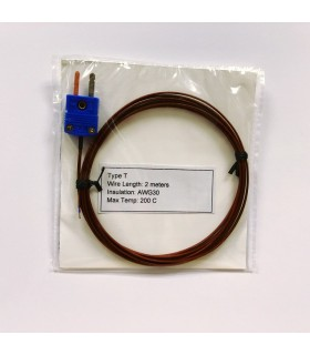 Type T Thermocouple Wire Probe (2 meters)