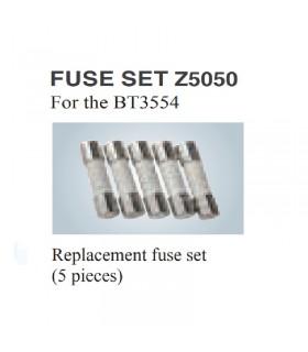 Hioki Z5050 Fuse set for Hioki BT3554-xx (5pcs set)